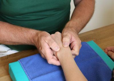 Handtherapie in der Praxis für Ergotherapie